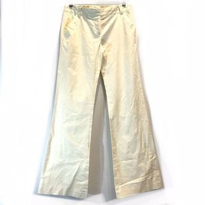 TORY BURCH Flare Leg Trouser Ivory/Cream Pants 2